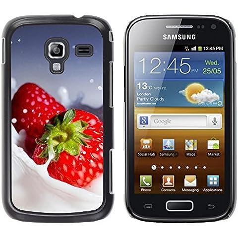 TORNADOCOVER Unico Immagine Rigida Custodia Case Cover Protezione Per SMARTPHONE Samsung Galaxy Ace 2 I8160 Ace II X S7560M - macro frutta cremoso fragole - Cremoso Fragola