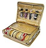 AtorakushonLocker Jewellery Kit / Jewellery box/Wardrobe Organiser/Regular Make Up Kit/ Wedding Collection Gift In satin Makeup Vanity Box(Gold)