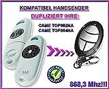 CAME TOP 862NA / 864NA Kompatibel Handsender, Ersatz sender, 868.3Mhz fixed code, Klone