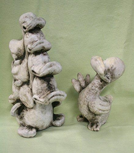 2er-set-dekofigur-entenfamilie-kwak-kleine-ente-kwak-grau-weiss-od111