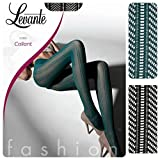 63de2309b70f Collant LEVANTE calza fashion retina moda 50 den E380 verde nero (VERDE, 4)