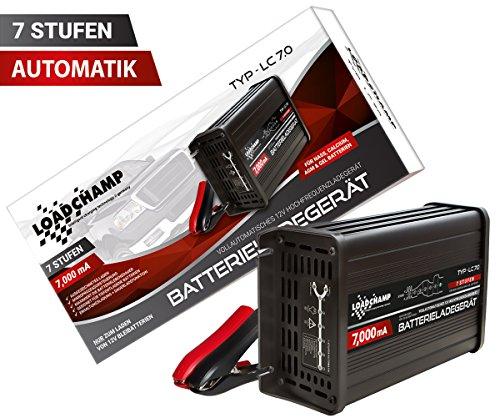 Loadchamp automatisches KFZ PKW Auto Batterie Ladegerät 12V AGM GEL Calcium Batterielader 7A