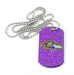 NFL Baltimore Ravens Glitter Dog Tag