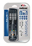 Meliconi FULLY 8 Telecomando Universale 8 in 1 per TV, Decoder, DVD/Blu Ray, Box Multimediali + IPTV + Xbox360 + PS2, Controlla fino ad 8 Apparecchi Contemporaneamente
