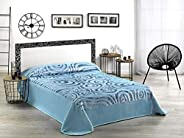 Mora Acrylic King Size Paisley Pattern Blue - Blankets