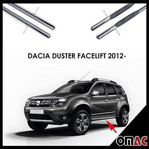 Pedane laterali schweller Ø70mm Aiaio Inox per Duster facelift 2012-