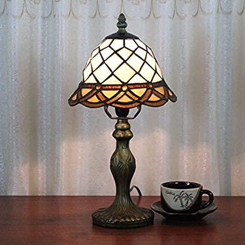 Lampe Tiffany - 8 pouces simple grille Tiffany style fait