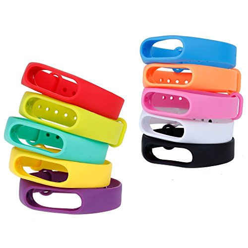 51nMFKqHaVL - Zacro Kit Braccialetto di Ricambio Polso Cinturino di Ricambio per Smartwatch Xiaomi Mi Band 2 intelligente Miband Bracciale Set di 10(Activity Tracker non incluso)