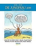 Jungfrau 2019: Sternzeichenkalender-Cartoonkalender als Wandkalender im Format 19 x 24 cm.