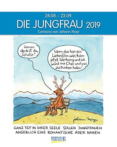 Die Jungfrau 2019. Sternzeichen-Cartoonkalender: 24.08.-23.09.