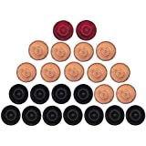 ARSDEWY Wooden Carrom Coins (24 Carrom Coins)