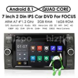 in Dash Navigation Android 8.1 Quad Core Car Double Din Stereo Headunit for Ford Focus Mondeo S-Max C-Max Galaxy Support WiFi 4G Bluetooth Dab DVR SWC