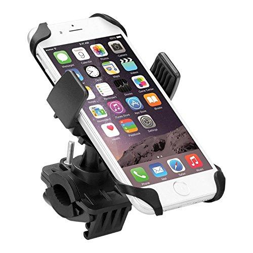 Handyhalterung Fahrrad, EMTOP Verstellbare Universal Smartphone Fahrrad / Motorradhalterung Halter mit 360 Grad drehen / Kautschukband / Einstellbar Klemm Geeignet für iPhone 4/4S/5/5S/5C/6/6S/7 Plus Samsung Galaxy S3 S4 S5 Note 1 2 3 Blackberry Z10, HTC One, MX2 3 und GPS-Einheiten