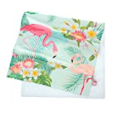 GWELL Flamingo Strandtuch Mikrofaser Duschtuch Badetuch Beach Handtuch Muster-E 140 * 70cm