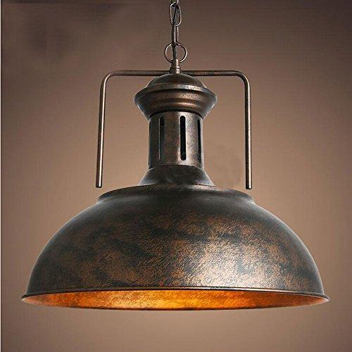 Cozyle Style industriel Loft Vintage Pendentif Dôme en métal suspendu Bronze clair 42cm