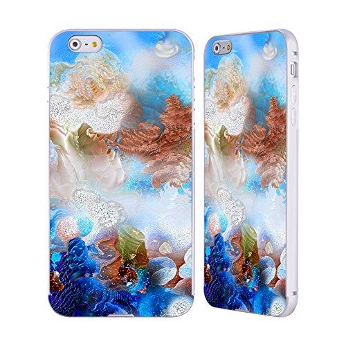 Ufficiale Runa Nuovo Rococo Vivido Argento Cover Contorno con Bumper in Alluminio per Apple iPhone 5 / 5s / SE Barriera Corallina Blu