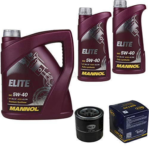 Filter Set Inspektionspaket 7 Liter MANNOL Motoröl Elite 5W-40 API SN/CF SCT Germany Ölfilter