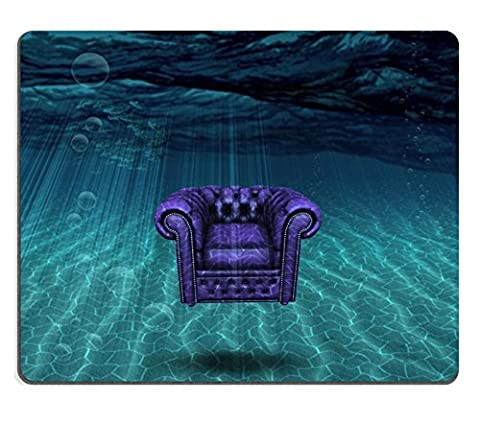 Luxlady Mousepads Arm chair floats above sea bottom IMAGE 22147394 Customized Art Desktop Laptop Gaming mouse Pad