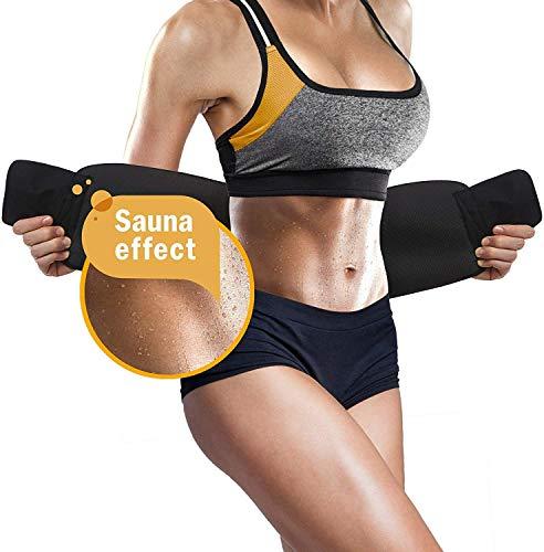WADEO Fitness Gürtel Neopren Fitnessgürtel Damen Zum Abnehmen Verstellbarer Schwitzgürtel Zum Abnehmen Frauen Sauna Bauchgürtel Herren Männer Für Sport