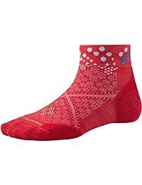 Smartwool Damen PHD Run Light Elite Socken mit Muster, kurz, Hibiskus