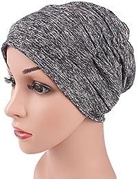63dcc129152 Qhome Unisex Soft Comfy Chemo Cap Sleepping Hat Turban Cap Muslim Islamic  Hijab Beanie Bonnet Cap
