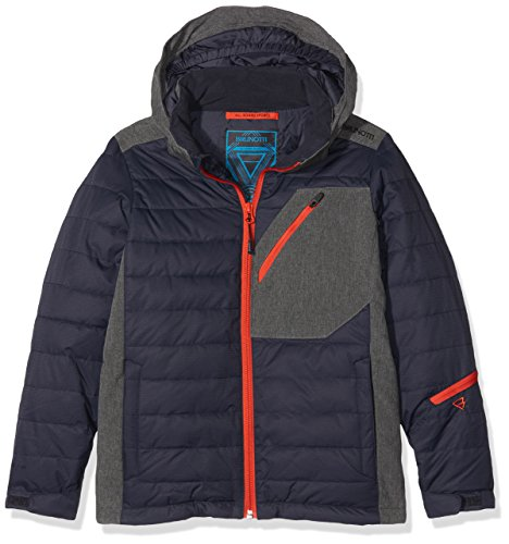 ail JR Boys Snowjacket Jacke, Night Blue, 140 (Ski-jacken Jungen)