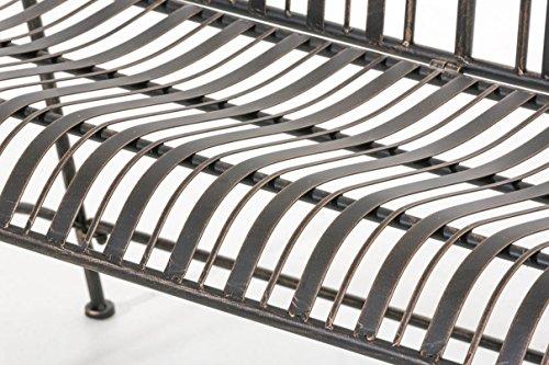 CLP Metall-Gartenbank RONJA im Landhausstil, Eisen lackiert, 108 x 55 cm, 2er Sitzbank Bronze - 6