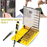 FomCcu 45-in-1 Hardware Screw Driver Interchangeable Professional Precise Manual Tool Kit