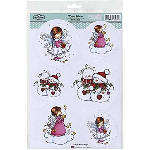 Hobby House Winter Wishes Sugar Nellie Topper Sheet, 8.5 by 12.2 by Hobby House