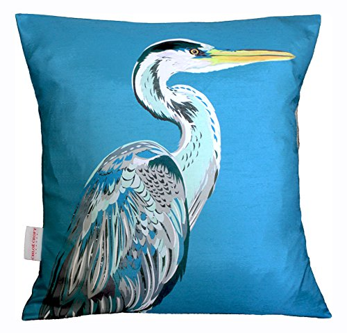 Chloe Croft London Blue Heron Charity Kissen, Blau/Grau/Schwarz -