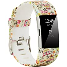 Fit-power - Correa de repuesto para Fitbit Charge 2, accesorio ajustable para pulsera