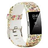 Fit-power Armbänder für Fitbit Charge 2, weich, verstellbar, für Sport und Freizeit, 2 Größen L Type3