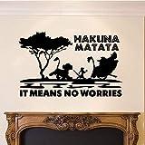 stickers muraux sticker mural Dessin animé le roi lion Hakuna Matata signifie aucune crainte arbre zoo voiture voiture sticker portable citation inspirante