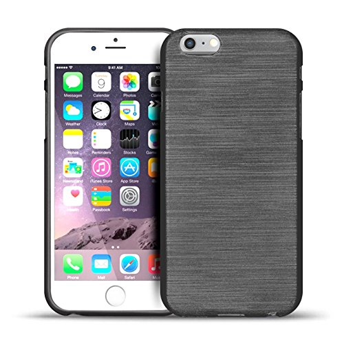 iPhone 6s Plus, 6 Plus Silikon Hülle, Conie Mobile Brushed Case Schlanke Schutzhülle TPU Handyhülle Backcover Rückschale in Pink Schwarz