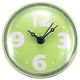 ungfu Cool 1pc de Salle de Bain pour carrelage en verre Horloge murale Miroir Fenêtre imperméable avec ventouse