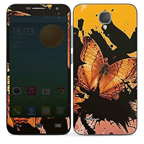 Alcatel One Touch Idol Mini L Slate Case Skin Sticker