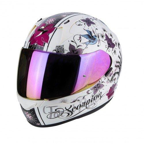 Scorpion Casco moto Exo 390 Chica Perle color blanco/lila