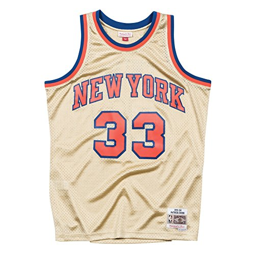 Mitchell & Ness Swingman New York Knicks Patrick Ewing 33 Gold L
