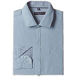 Excalibur Men's Formal Shirt (8907542608317_400016539165_39_Blue)