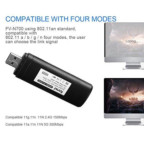 51nMLuEhQLL - Adaptador Velidy Wi-Fi inalámbrico USB para televisión, 802.11ac de doble banda 2,4GHz y 5GHz, adaptador USB de red WiFi inalámbrico para smart TV Samsung WIS12ABGNX WIS09ABGN 300M