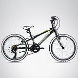 Bergsteiger Kansas 20 Zoll Mountainbike, Hardtail, Shimano-Schaltung, cooles Kindermountainbike, geeignet für 6 - 9 Jahre -