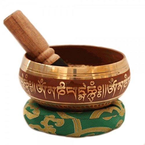 Tibetische Klangschale Meditation Kupfer Und Silber Buddhistischen Dekor 10 Cm
