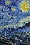 La nuit étoilée, Vincent van Gogh: Carnet ligné, 160 pages, dimensions: 15.24 x 22.86 cm, Feuilleté