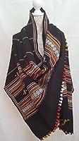 Handwoven Merino Wool Shawl / Hand Embroidered Shawl/ Oversize Scarf