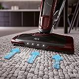AEG Eco UltraPower CX8-78BO kabelloser Handstaubsauger (beutellos, 78 Minuten Laufzeit, Lithium HD-Power-Akku, Elektrobürste, 4 LED-Frontlichter) bordeaux -