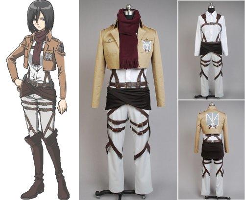 (Attack on Titan Shingeki No Kyojin Mikasa Ackerman Cosplay Kostüm Bitte E-Mail uns Ihre Maße)