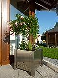 Blumenkasten, Pflanzkübel aus Edelstahl PK 50 (80 ltr)
