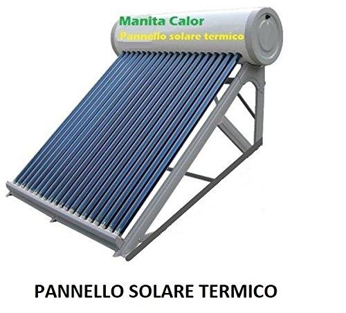 PANNELLO SOLARE TERMICO ACQUA CALDA SERBATOIO INOX 100 Lt ACCESSORI...
