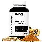 Maca Peruviana 4000 mg | 120 capsule | Radice di Maca che migliora l'energia, la resistenza, le prestazioni atletiche, la memoria, la concentrazione, il sistema immunitario e l'equilibrio ormonale