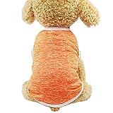 EUZeo Lovely Pet Dog Bekleiden Hündchen Klassisches Haustier Hundeweste T-Shirt Sommer Einfarbig Welpen Sleeveless Pullover Hundepullover Hundeshirts Weasten Pulli Hemd